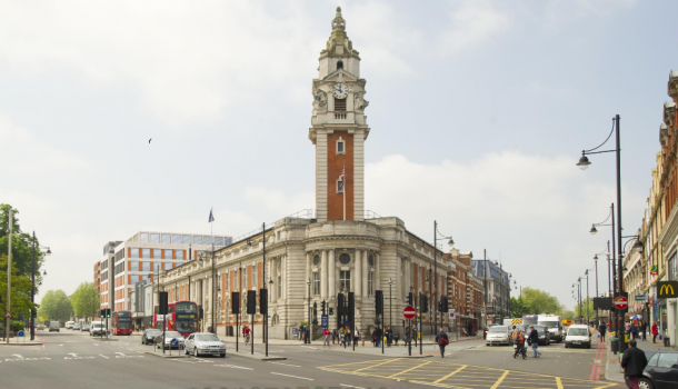 Artists impression of new Town Hall campus, with a new civic centre on Brixton Hill. Taken from proposal by Muse developers