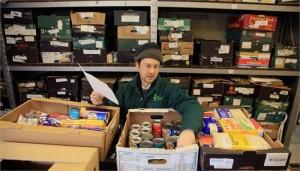 Aa volunteer at Brixton foodbank