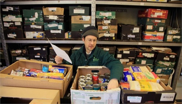 A volunteer at Brixton foodbank
