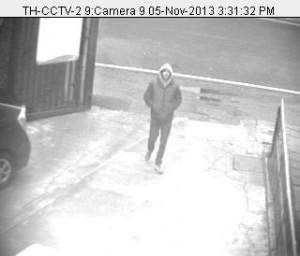 Pictures of the thief in the rear of Lambeth town hall