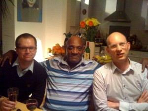 The authors with Darcus Howe