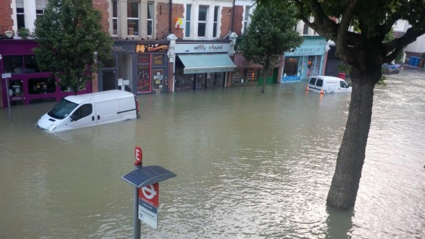 Herne Hill submerged. (Credit: Crispin Sugden)