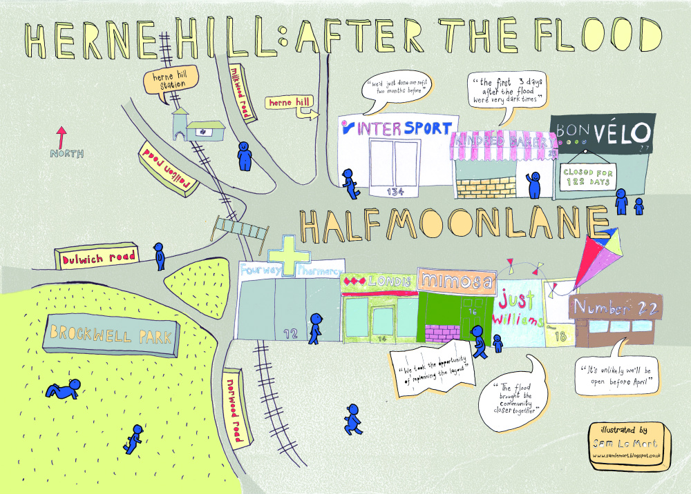 After the flood how the waters brought Herne Hill together