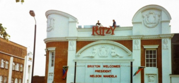 Ritzy on the day Mandela visited Brixton, 12 July 1996
