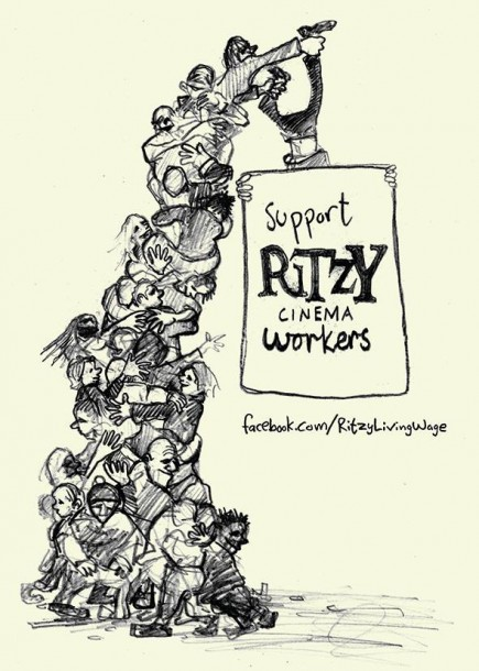 The flyer handed out by Ritzy staff in support of the campaign