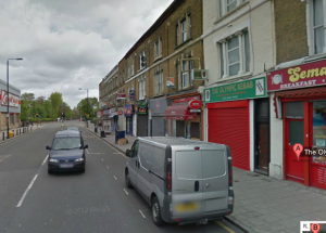 Police say the shooting took place in a kebab shop in Water Lane, but it may have been Olympic Kebab, round the corner in Tulse Hill