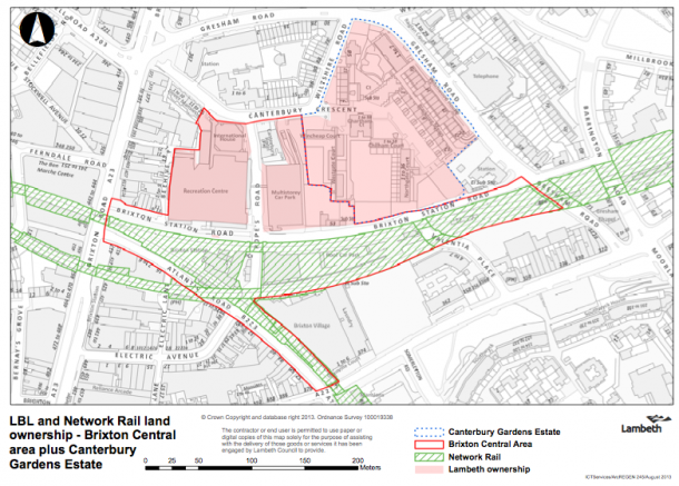 ALL CHANGE: Brixton Central is outlined in red above