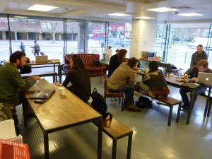 People take part in a previous Makerspace open day