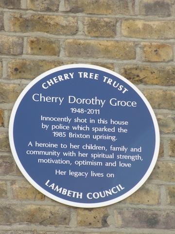 Cherry Groce Plaque