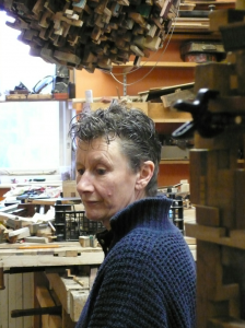Lesley Hilling in workshop
