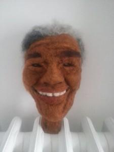 Nelson Mandela head by Sandra McDonagh