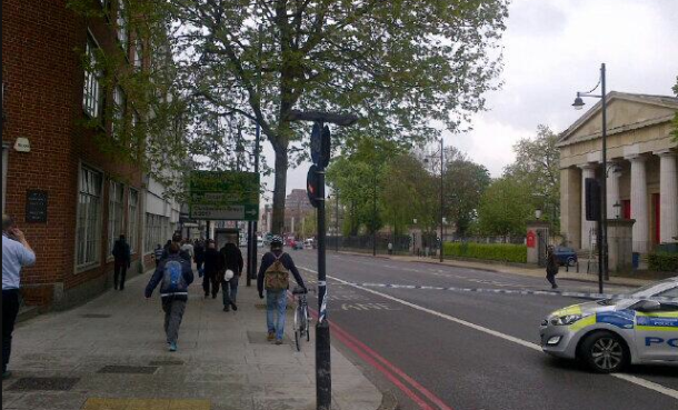 Brixton Hill was closed in both directions for a while. Picture by @sleepingpoodle on Twitter