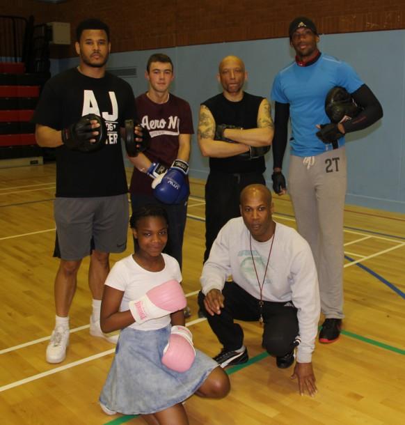 boxing group shot