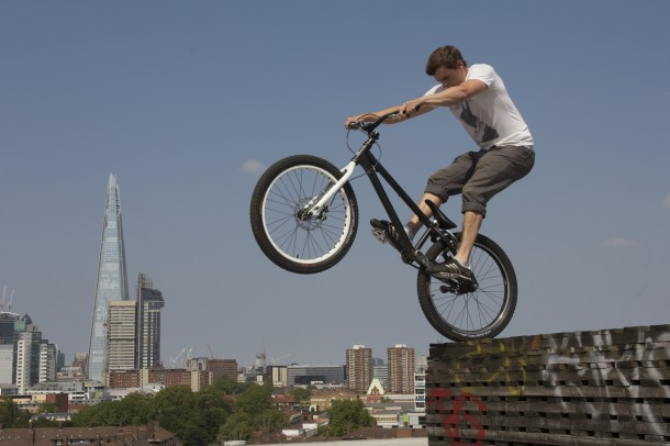 BMX-er Joel, one of the Londoners. All photos courtesy of Chocolate Films.