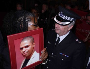 Marcia Rigg, Sean Rigg's sister, meets PC Matt Bell, former Lambeth Borough Commander