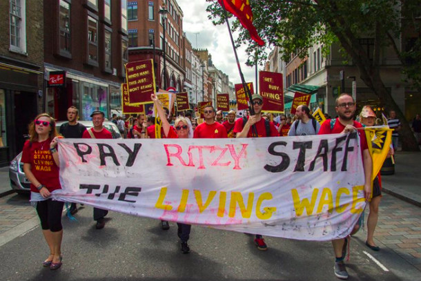 Ritzy Staff Protest