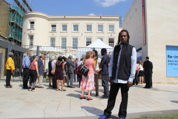 Benjamin Zephaniah at the opening of the Black Cultural Archives in 2014