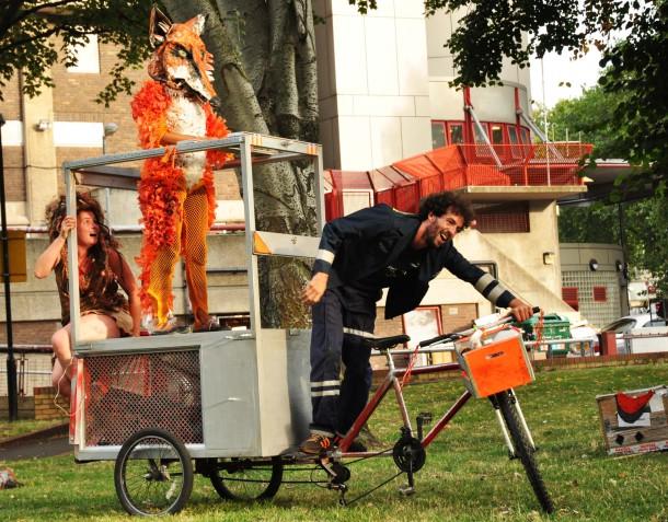 STREET THEATRE: A fox pops up in Brixton