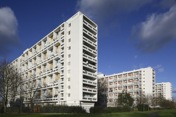 The Loughborough Estate, built in 1953-57.
