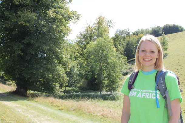 ADVENTURE: Penny Ruszczynski training in the South Downs