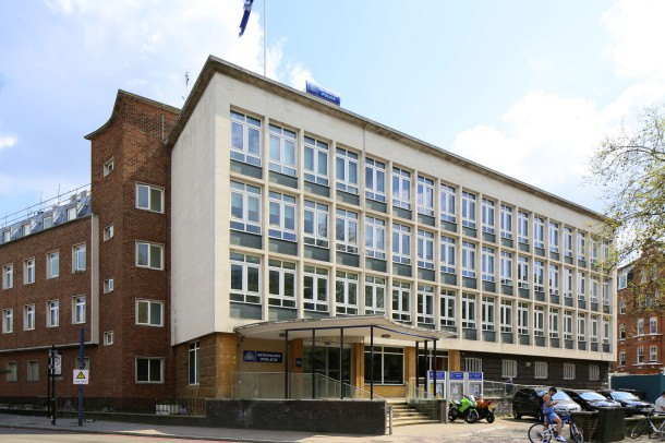 Brixton Police Station, opened in 1959, and won a Civic Trust Award in 1961.