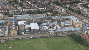 Brixton Prison, as seen on Apple Maps