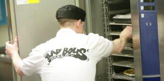 A baker at Bad Boys Bakery