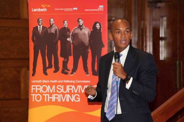 Labour MP for Streatham Chuka Umunna who gave the key note speech at campaign launch - Pic by Oliver Barrett