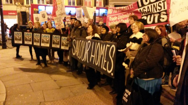 Lambeth unites to protest at town hall - photo by Sophie Bush