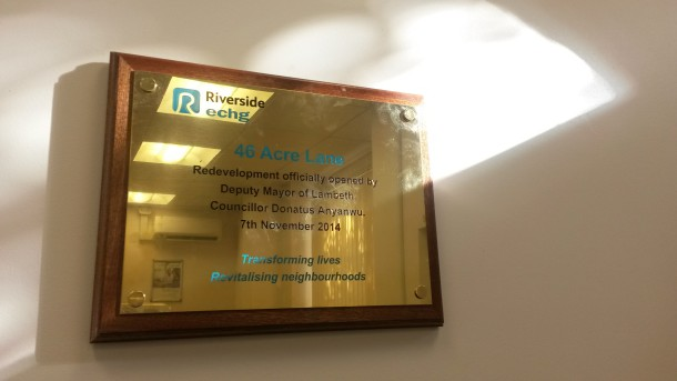 The plaque unveiled by deputy mayor Anyanwu - photo by Sophie Bush