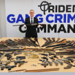 A cache of guns - photo by Met police