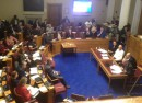 Lambeth Town Hall council chamber during the meeting