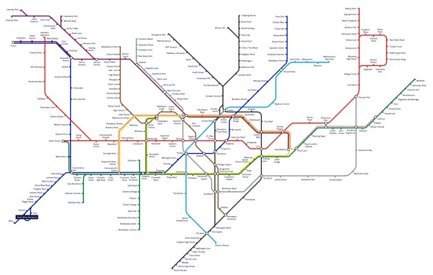 The alternative London Tube Map - as suggested by Londonist readers