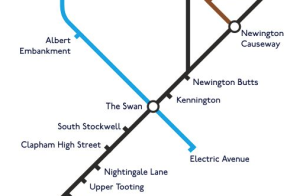 An extract from the fantasy Tube Map published by Londonist website