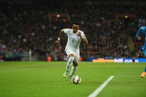 Nathaniel Clyne in action against Slovenia. Credit: Michael Regan for The FA.