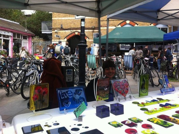 The Peace of Glass stall at Herne Hill Market
