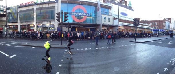 tube at brixton queue