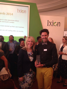 AWARD WINNING: Spyros won the Product Award at the 2014 Ixion Enterprise Awards, presented by Esther McVey, Minister of State for Employment