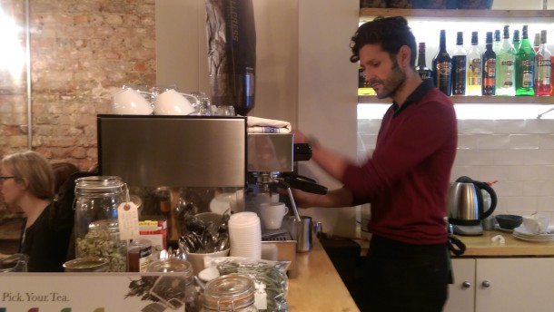 COFFEE MATE: Parissi opens at 7am for commuters needing a caffeine fix on their way to work