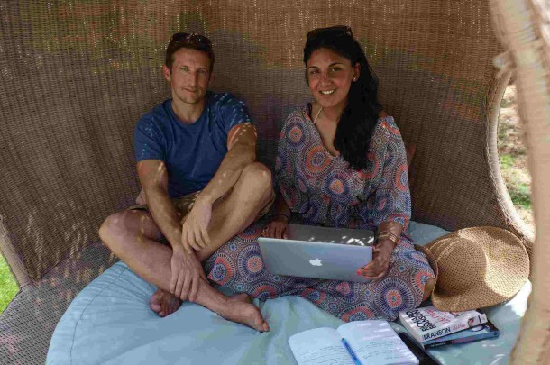 Flash Pack co-founders Lee and Radha