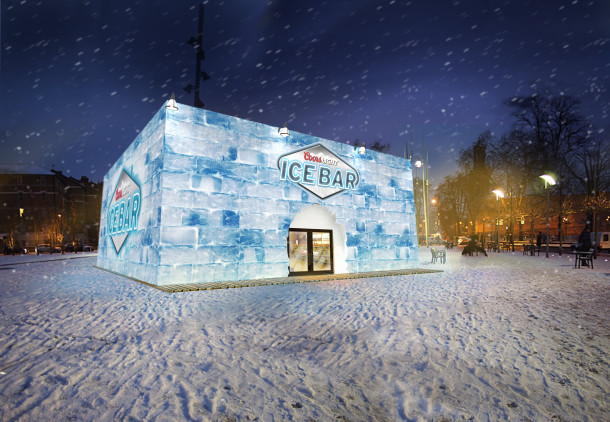 The Coors Ice Bar sets up camp in Windrush Square