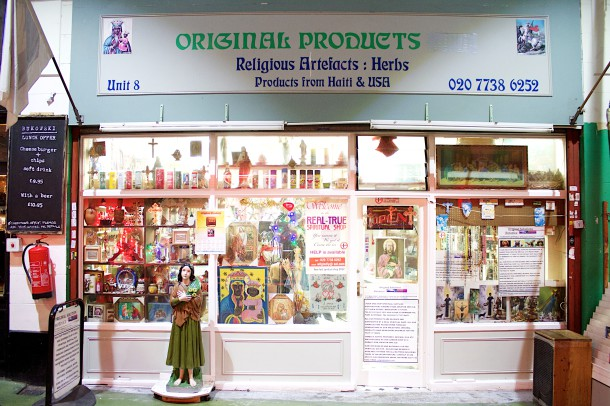 Original Products, Religious Artefacts: Herbs shop front, by Gavin Freeborn