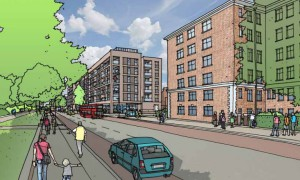 Artist's sketch of the new development on the Olive Morris House site