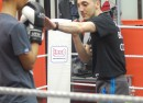 Afewee head coach Bobby Miltiadous leading a boxing class at the Brixton Rec.
