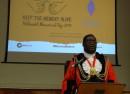 Lambeth Mayor Adedamola Aminu speaks at the event.