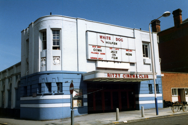 The old front of the Ritzy in 1984