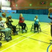 Rukiyah coaching a group of wheelchair basketball players (Photo: Brixton Ballers)