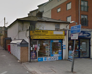 Girish Patel scammed Oyster card customers at his newsagents, Krishen News, in New Park Road, Brixton. Pic: Google Streetview
