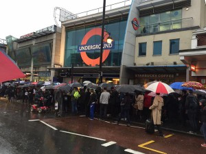 Commuters queuing at Brixton tube last year while an escalator was out of action