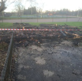 The public shelter in Brockwell Park after the fire. Credit: Richard Quinlan